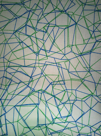 Texture white with blue and green lines of chaotic direction