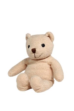 oso de peluche: Hecho a mano de oso de peluche aislado en el fondo blanco
