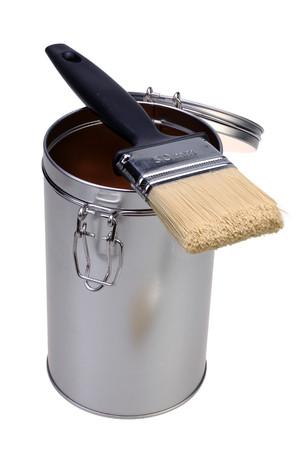 paint box: Paint brush and paint box