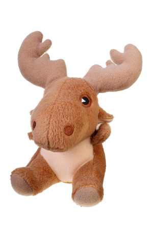 natale: Toy elk  isolated on white with Clipping Path