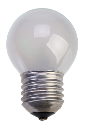 Isolated mate light bulb on white background with Clipping Path Reklamní fotografie