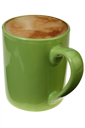 Big cup of coffee on white background with Clipping Path.
