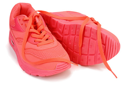 Sport shoes on white background with Clipping path. Reklamní fotografie