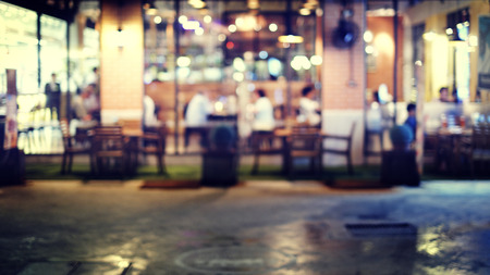 cafes: Coffee shop blur background with bokeh image.