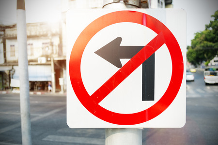 forewarning: No Left Turn Sign on the way