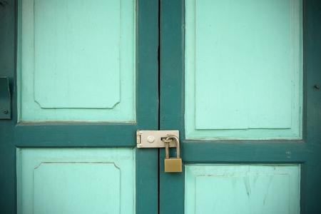 Old Wood Doors and Key lock