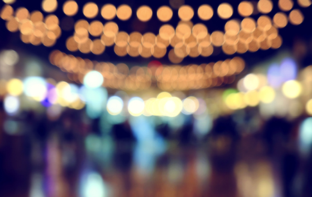 defocused bokeh light, abstract background at night photo Stock Photo