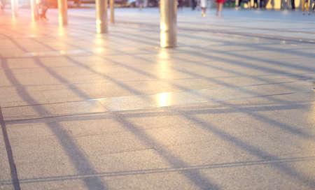 Defocused bokeh light, abstract people Banco de Imagens