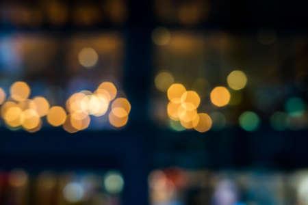 de focused bokeh light, abstract background at night photo Banco de Imagens