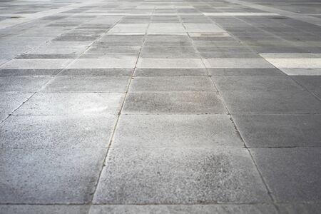 Space and concrete floor in public park
