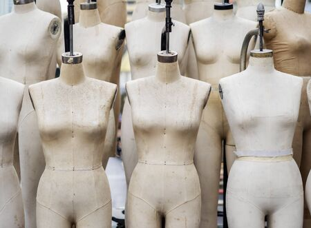 Closeup professional mannequin for sewing atelier