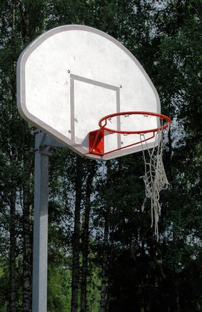 and worn out: Worn out basketball net Stock Photo