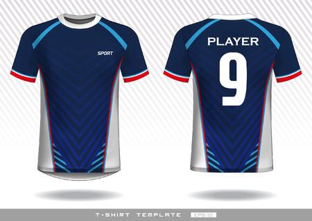 Sports t shirt template. uniform design. team wear design. prints design.