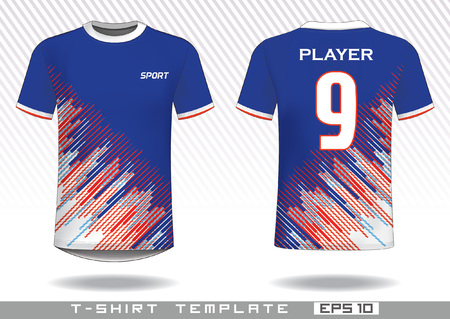 Sports t shirt template. uniform design. team wear design. prints design. 免版税图像 - 115729094