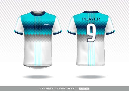 sports t shirt template. uniform design.