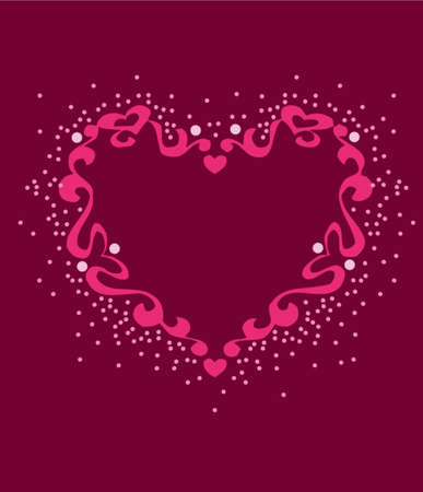 either: Graphically designed heart for use as background or template for either print or web.