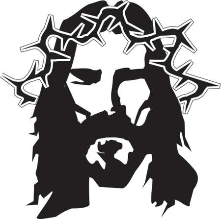 black jesus: Jesus graphic illustration
