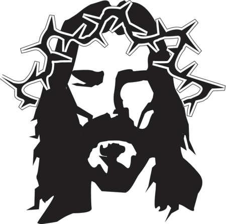 doornenkroon: Jezus grafische illustratie Stock Illustratie
