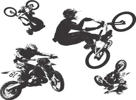 motorcross: De motos y bicis ilustraci�n