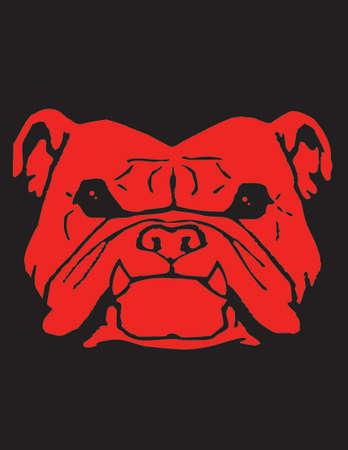 red bull: Bull Dog illustration
