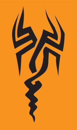 Tribal scorpion design illustration