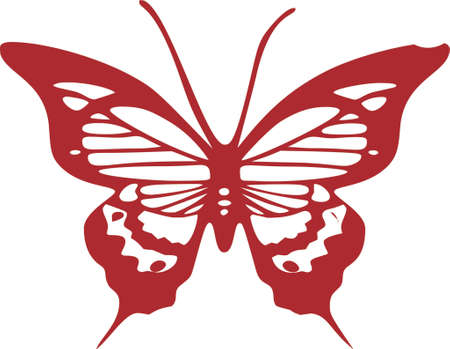 Butterfly clip art design illustration