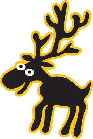 moose clip art design illustration Ilustração