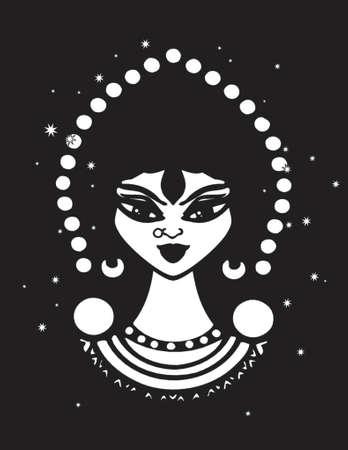 fortune teller: gypsy clip art design illustration
