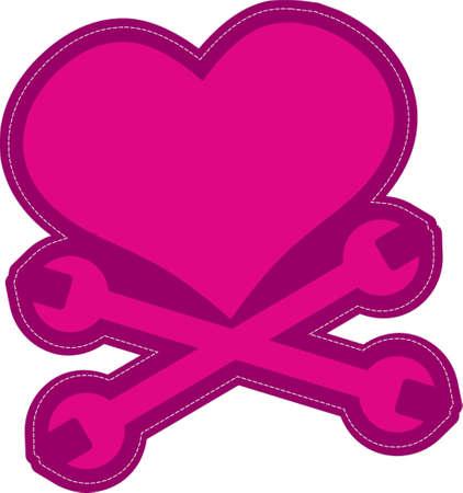 overheated: heart clip art design illustration