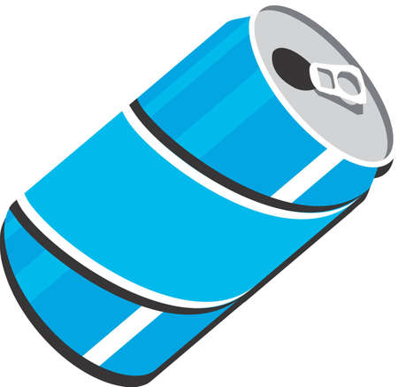 drink can: Pop Soda can clip art design illustration for use in web or print Stock Photo