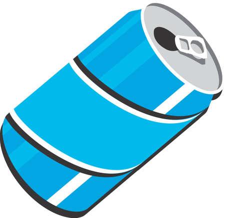 lata de refresco: Soda Pop puede clip art ilustraci�n de dise�o para su uso en web o imprimir  Foto de archivo