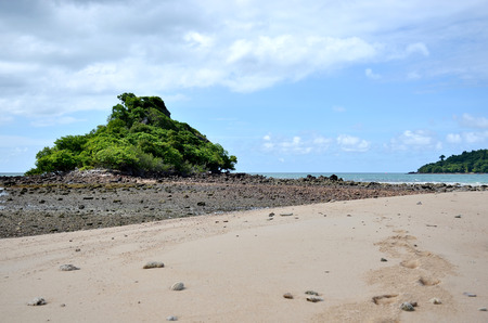 Summer beach   and the beautiful sky