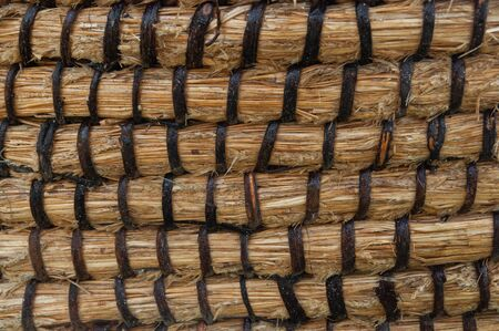 Wicker or rattan basket texture. Foto de archivo