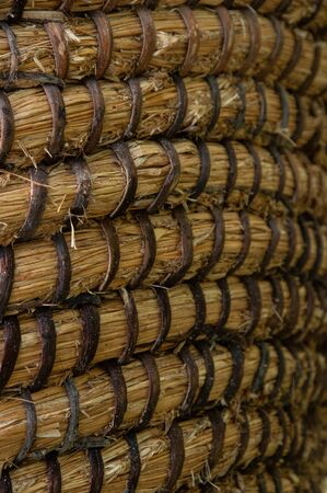 Wicker or rattan basket texture. Basket for straw. High-resolution seamless texture.