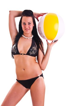 isolated photo set of the woman in swimwear photo