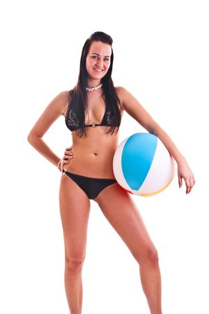 isolated photo set of the woman in swimwear Stock Photo - 6697744