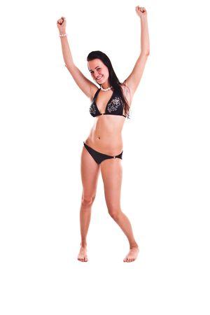 isolated photo set of woman in swimwear photo
