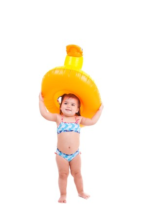 Lovely child with air-toy photo