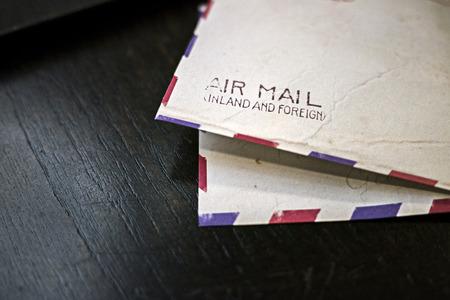 close up Vintage airmail envelope  Stock Photo