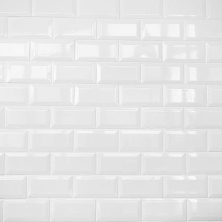 wall tiles: white ceramic brick tile wall,clean  Stock Photo