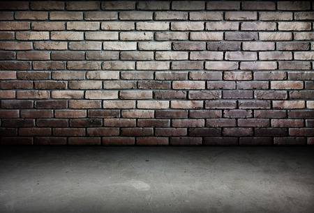 gangster background: Room perspective-brick wall and cement ground,grunge