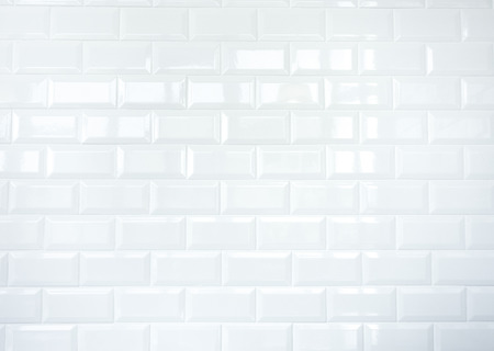 White Ceramic tile brick wall texture