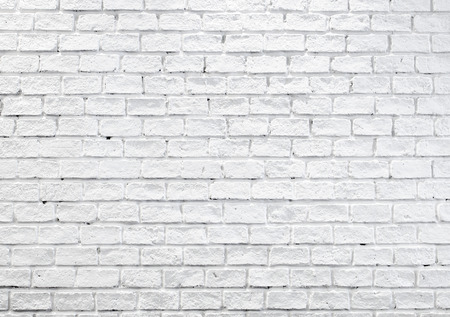 broken brick: White misty brick wall for background or texture. Stock Photo
