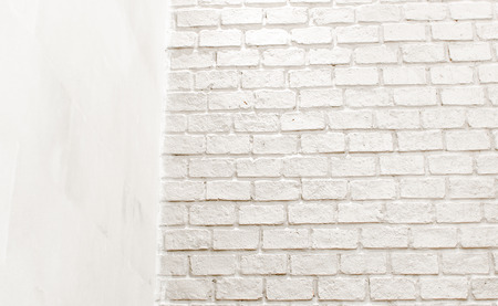 conner: Conner room white brick wall,leave space for add text content.