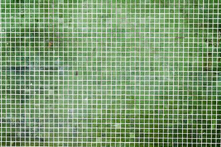 bathroom design: grunge Green mosaic tiles background.