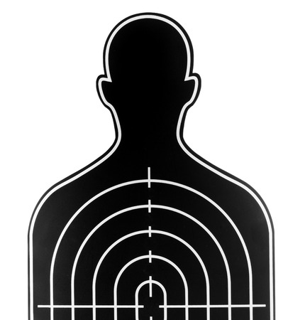 profile picture: dart board in profile picture shape on white background