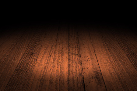 dark interior: Tropical Plank wooden floor background, Mock up for display of product.
