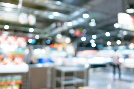 supermarket: Supermarket store blur background with bokeh