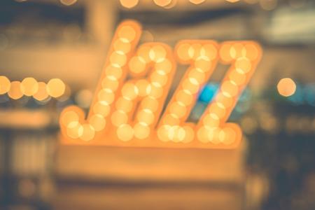 jazz modern: abstract blur bokeh in jazz word,music background,vintage filter.