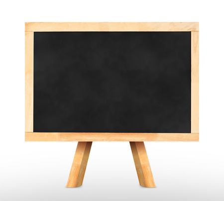 Blackboard with easel in studio room,Template for your content. photo